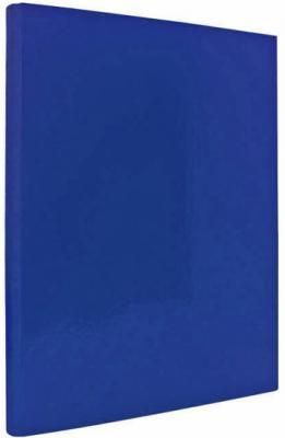 Папка с прижимным механизмом ламинированная, синяя IND PR СИН от 123.ru