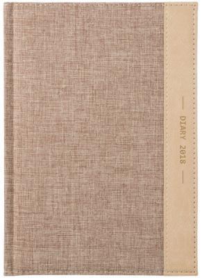 Ежедневник датированный Index Canvas 2018 A5 искусственная кожа IDD0718/A5/BE блокнот index in0103 a550 a5 50 листов в ассортименте