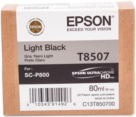 Картридж Epson C13T850700 для Epson SureColor SC-P800 серый original cc03main mainboard main board for epson l455 l550 l551 l555 l558 wf 2520 wf 2530 printer formatter
