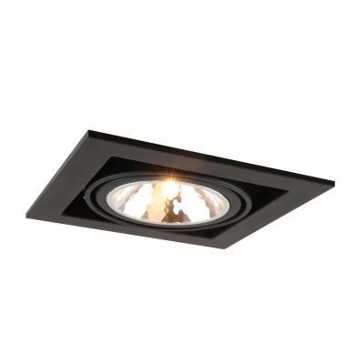 Встраиваемый светильник Arte Lamp Cardani Semplice A5949PL-1BK встраиваемый светильник arte lamp cardani semplice a5949pl 1wh
