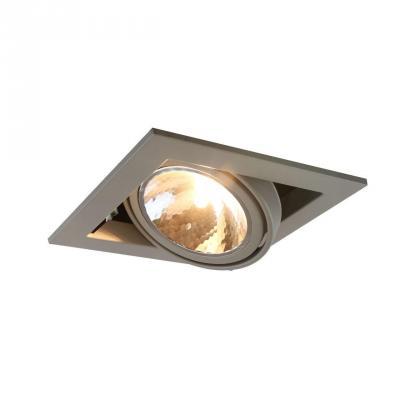 Встраиваемый светильник Arte Lamp Cardani Semplice A5949PL-1GY встраиваемый светильник arte lamp cardani semplice a5949pl 1wh