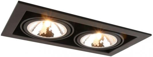 Встраиваемый светильник Arte Lamp Cardani Semplice A5949PL-2BK встраиваемый светильник arte lamp cardani semplice a5949pl 1wh