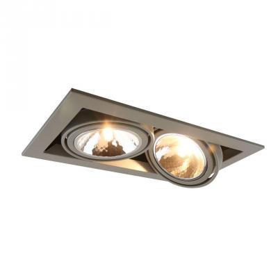Встраиваемый светильник Arte Lamp Cardani Semplice A5949PL-2GY arte lamp встраиваемый светодиодный светильник arte lamp cardani a1212pl 1wh