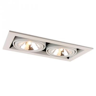 все цены на Встраиваемый светильник Arte Lamp Cardani Semplice A5949PL-2WH онлайн
