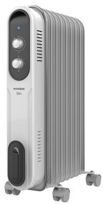 Масляный радиатор Hyundai H-HO-9-07-UI847 1500 Вт термостат белый серый биокамин silver smith mini 3 premium 1500 вт серый