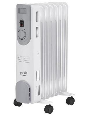 Масляный радиатор Oasis OS-15 1500 Вт таймер белый масляный радиатор oasis bb 25t cерый