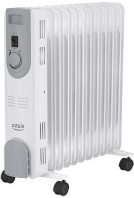Масляный радиатор Oasis OS-25 2500 Вт термостат колеса для перемещения белый серый