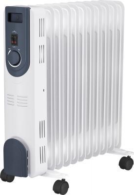 Масляный радиатор Oasis OT-25 2500 Вт колеса для перемещения ручка для переноски термостат белый