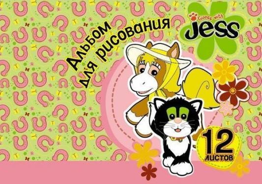 Альбом для рисования Action! Guess with Jess A4 12 листов GJ-AA-12 в ассортименте