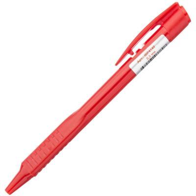 Шариковая ручка автоматическая Index IBP4140/RD красный 0.5 мм