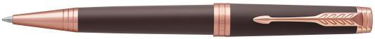 Шариковая ручка поворотная Parker Premier Soft Brown PGT черный M 1931408 ручка шариковая parker premier soft k560 1876397 brown pgt m чернила черный ювелирная латунь