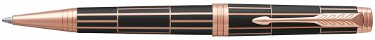Шариковая ручка поворотная Parker Premier Luxury Brown PGT черный M 1931400 ручка шариковая parker premier soft k560 1876397 brown pgt m чернила черный ювелирная латунь