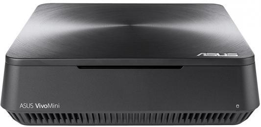 Неттоп Asus VivoPC VM45-G020M slim Cel 3865U (2.4)/4Gb/SSD128Gb/HDG610/noOS/GbitEth/WiFi/BT/65W/клавиатура/мышь/серый неттоп lenovo 200 01ibw slim cel 3215u 2gb 500gb 5 4k noos wifi bt белый