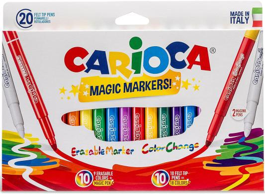 Набор фломастеров CARIOCA Magic 20 шт 41369 carioca набор фломастеров neon 8 цветов