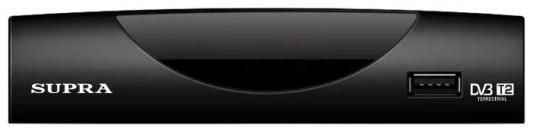 Тюнер цифровой Supra SDT-87 черный