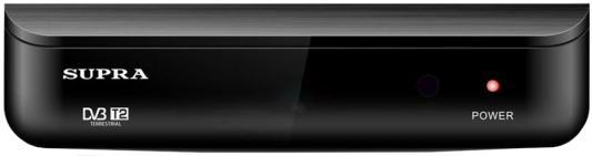 Тюнер цифровой Supra SDT-89 черный тв приставка supra sdt 89