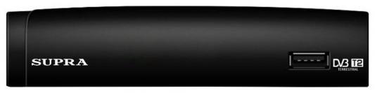 Тюнер цифровой Supra SDT-97 черный тв приставка supra sdt 97
