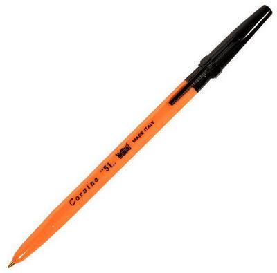 Ручка шариковая CARIOCA CORVINA 51 черный 0.7 мм 40383/01G/28311