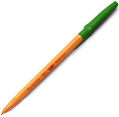 Шариковая ручка CARIOCA CORVINA 51 зеленый 0.7 мм