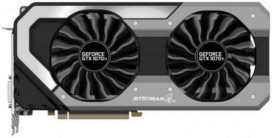Видеокарта 8192Mb Palit GeForce GTX 1070Ti JetStream 8G PCI-E 256bit GDDR5 DVI HDMI DP HDCP NE5107T015P2-1041J Retail видеокарта 2048mb palit geforce gt710 pci e dvi hdmi vga hdcp pa gt710 2gd3h retail neat7100hd46 2080h
