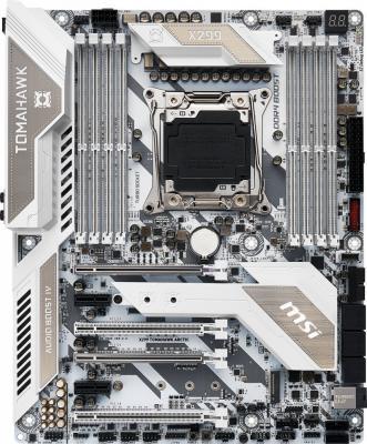 Материнская плата MSI X299 TOMAHAWK ARCTIC Socket 2066 X299 8xDDR4 4xPCI-E 16x — 2xPCI-E 1x 8 ATX Retail