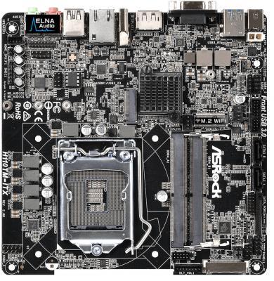 Мат. плата для ПК ASRock H110TM-ITX R2.0 Socket 1151 H110 2xDDR4 2 mini-ITX Retail asrock asrock q1900b itx
