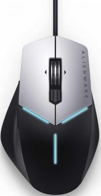 лучшая цена Мышь проводная DELL AW558 чёрный серебристый USB