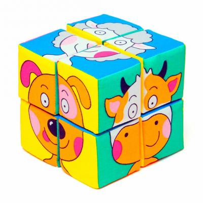 Кубики МЯКИШИ Зверята 336 от 1 года 8 шт цена