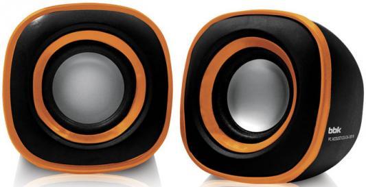 Колонки BBK CA-301S 2x1.5 Вт черный/оранжевый
