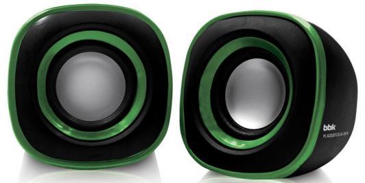 Колонки BBK CA-301S 2x1.5 Вт черный/зеленый