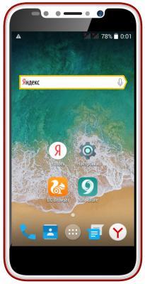 Смартфон ARK Benefit S504 4 Гб красный мобильный телефон ark benefit u281 белый 2 8 32 мб 3 симкарты