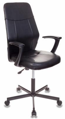 Кресло Бюрократ CH-605/BLACK черный 484854 кресло бюрократ ch 605 на колесиках искусственная кожа черный [ch 605 black]