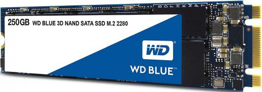 Твердотельный накопитель SSD M.2 250Gb Western Digital Blue Read 550Mb/s Write 525Mb/s SATAIII WDS250G2B0B ssd твердотельный накопитель 2 5 1 6tb intel s3520 read 450mb s write 380mb s sataiii ssdsc2bb016t7
