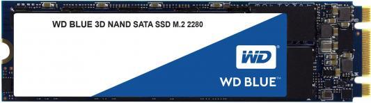 Твердотельный накопитель SSD M.2 500Gb Western Digital Blue Read 560Mb/s Write 530Mb/s SATAIII WDS500G2B0B твердотельный накопитель ssd m 2 64gb transcend mts400 read 560mb s write 160mb s sataiii ts64gmts400
