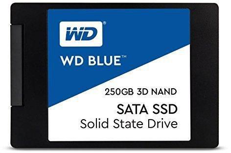 Твердотельный накопитель SSD 2.5 250Gb Western Digital Blue Read 550Mb/s Write 525Mb/s SATAIII WDS250G2B0A твердотельный накопитель ssd m 2 64gb transcend mts600 read 560mb s write 310mb s sataiii ts64gmts600