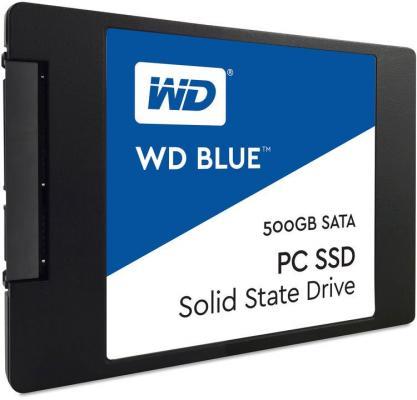Твердотельный накопитель SSD 2.5 500Gb Western Digital Blue Read 560Mb/s Write 530Mb/s SATAIII WDS500G2B0A твердотельный накопитель ssd m 2 64gb transcend mts600 read 560mb s write 310mb s sataiii ts64gmts600