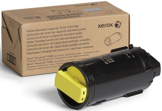 Картридж Xerox 106R03910 для VersaLink C600/C605 желтый 6000стр картридж xerox 106r03910 для versalink c600 c605 желтый 6000стр