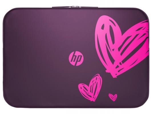 "Чехол для ноутбука 15.6"" HP 1AT98AA неопрен фиолетовый"