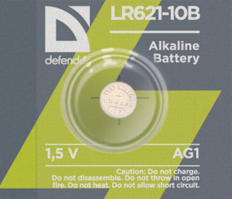 Батарейки Defender LR621-10B AG1 10 шт 56301