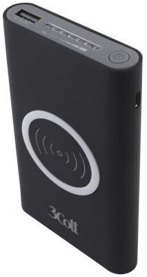 Внешний аккумулятор Power Bank 8000 мАч 3Cott 3C-PB-80A черный внешний аккумулятор molecula pb 20 01 20800 мач черный алюминий
