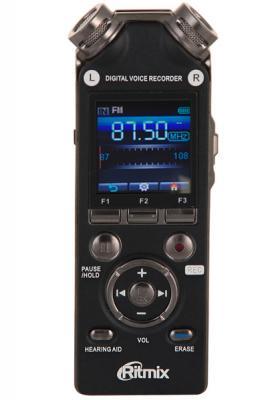 Цифровой диктофон Ritmix RR-989 4Гб черный ritmix ritmix rf 7200 фиолетовый 4гб