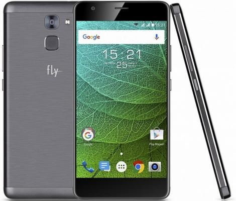 Смартфон Fly FS554 Power Plus FHD серый 5.5 16 Гб LTE Wi-Fi GPS 3G смартфон fly nimbus 10 fs512 черный