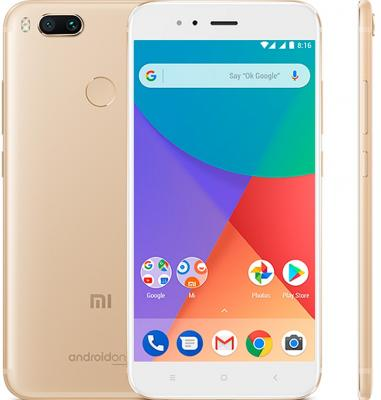 цены Смартфон Xiaomi MI A1 64 Гб золотистый (MIA1GD64GB)