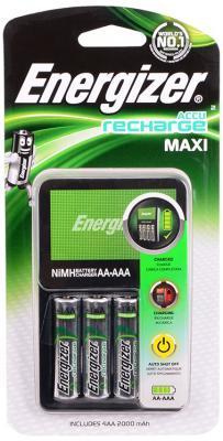 Зарядное устройство + аккумуляторы Energizer Maxi 2000 mAh AA 4 шт 638582\\E300321200 зарядное устройство аккумуляторы energizer base 4aa 1300mah