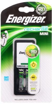 Зарядное устройство + аккумуляторы Energizer Mini 700 mAh AAA 2 шт 638584/E300321300 зарядное устройство аккумуляторы energizer base 4aa 1300mah