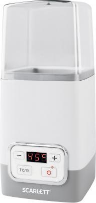 Йогуртница Scarlett SC-YM141P01 серый белый йогуртница supra ygs 7001 розовый белый