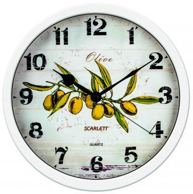Часы настенные Scarlett SC-WC1005K белый рисунок часы настенные scarlett sc 55fv