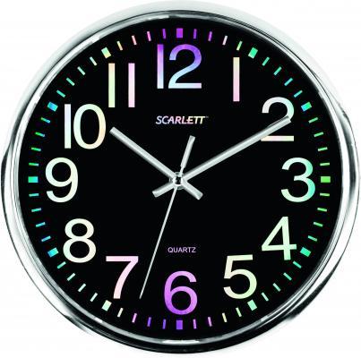 Часы настенные Scarlett SC-WC1010O чёрный часы настенные scarlett sc 55fv