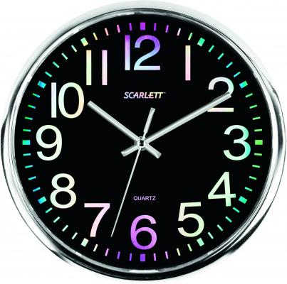 Часы настенные Scarlett SC-WC1010O чёрный масляный радиатор scarlett sc oh67b02 7