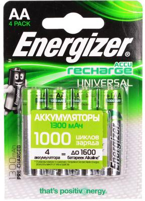 Аккумуляторы Energizer Universal 1300 mAh AA 4 шт 638590/E300322101 energizer easy battery charger kit includes aa